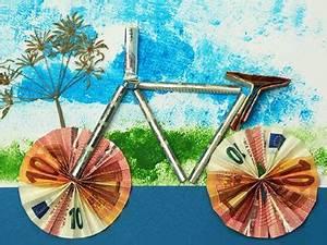 Fahrrad Aus Geldscheinen Falten : ein fahrrad als geldgeschenk basteln gestalten ~ Lizthompson.info Haus und Dekorationen