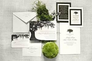 savannah inspired spanish moss oak tree letterpress With spanish moss wedding invitations