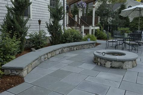 sitting wall beautfiul stone sitting wall and fire pit add a great touch to this bluestone pa