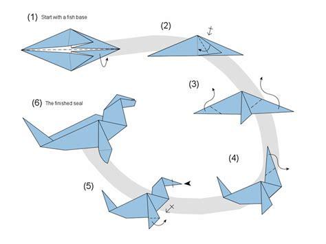 Origami Boat Very Easy by 페이퍼랜드 Paperland Kr 물개 종이접기 그림 도안