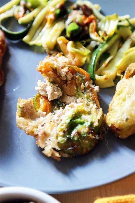 ricetta fiori di zucca ripieni fritti fiori di zucca ripieni e fritti vegan bye bye dieta ma