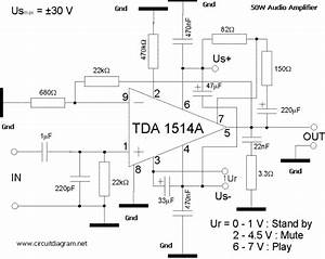 50w Audio Amplifier With Tda1514a
