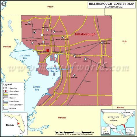 Hillsborough County Florida Zip Codes Map Wall Big