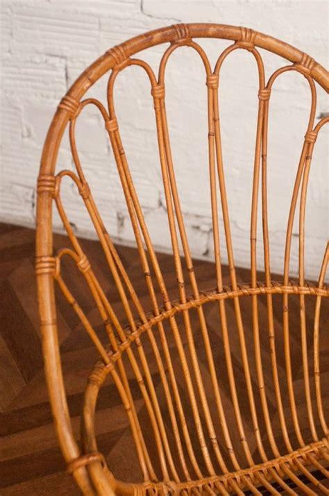 chaises vintage annees 50 vintage rattan chair 50s 1950 vintage rattan chairs design 50