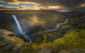 Iceland Waterfall Sunset