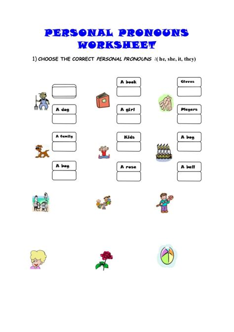 Personal Pronouns Spanish Worksheet Pdf  3rd Grade Grammar Education Possessive Pronouns