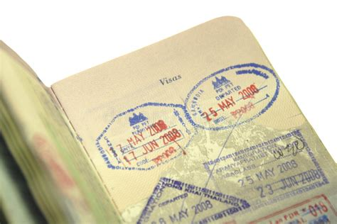 U S Customs And Immigration Passport Stamp Stock Photo