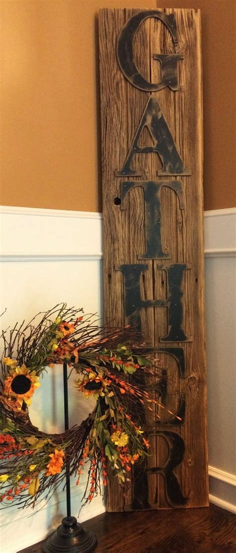 rustic gather sign           dining room barn