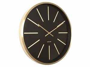 Karlsson maxiemus brass large living room wall clock for Brass wall clockslarge