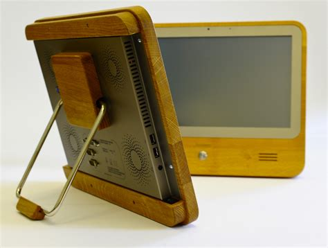 natural wood desk top eco computer with a natural wood look