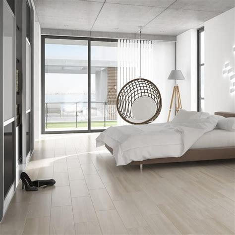 modern bedroom flooring wood effect floor tiles in a subtle shade 12481