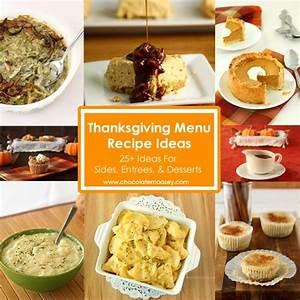 Thanksgiving Menu Recipe Ideas