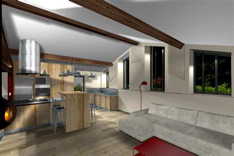 cuisine ferme aménagement combles d une maison en appartement à lyon