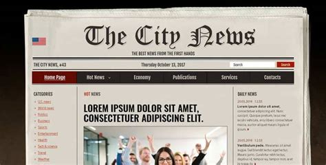 newspaper  psd photoshop template gridgum