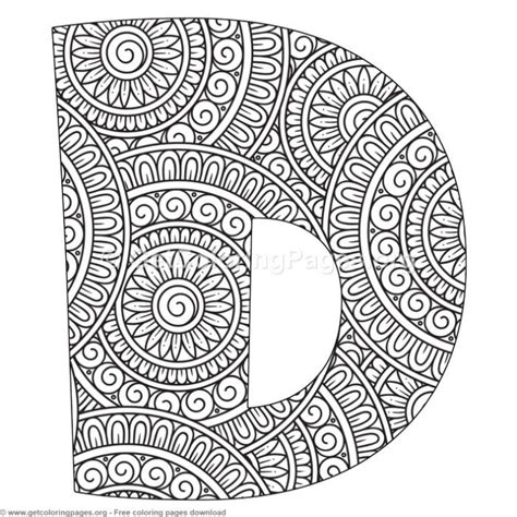 mandala alphabet letters  coloring pages getcoloringpagesorg