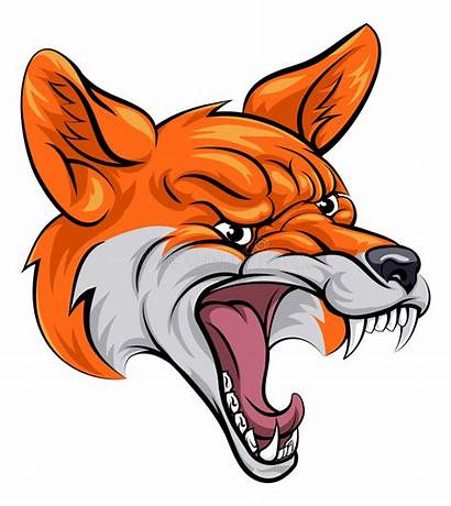 Fox Sports Mascot Illustration Cartoon Vector Animal