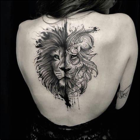 idee tatouage lion femme pin  viktoria sapundjieva