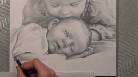 kinder bleistiftportrait realistisch zeichnen speed