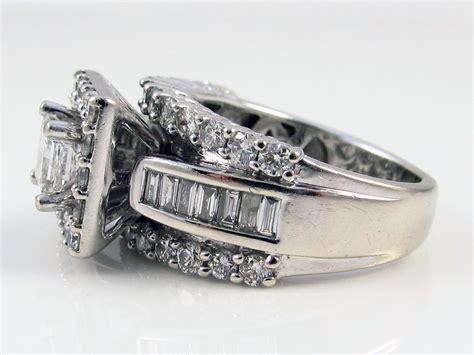 zales 14k white gold 2 20ct princess cut diamond wedding ring bridal ebay