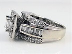 Zales 14K White Gold 2.20CT Princess Cut & Round Diamond ...