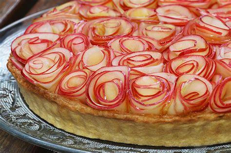 cuisiner avec un micro onde tarte aux pommes comme un bouquet de roses