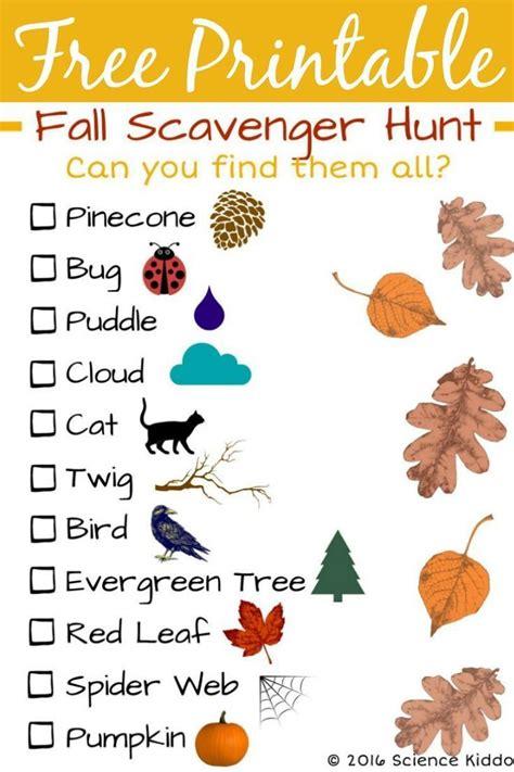 fall nature scavenger hunt for season fall 764 | 488d8d4bda80372b573388f5cbdca899