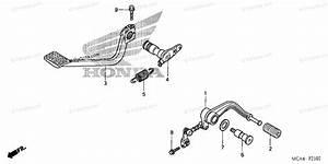 Honda Motorcycle 2006 Oem Parts Diagram For Pedal