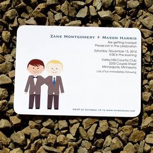 21 best same sex wedding invitations images on pinterest With modern gay wedding invitations