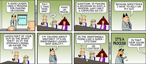 dilbert  decision making process humour
