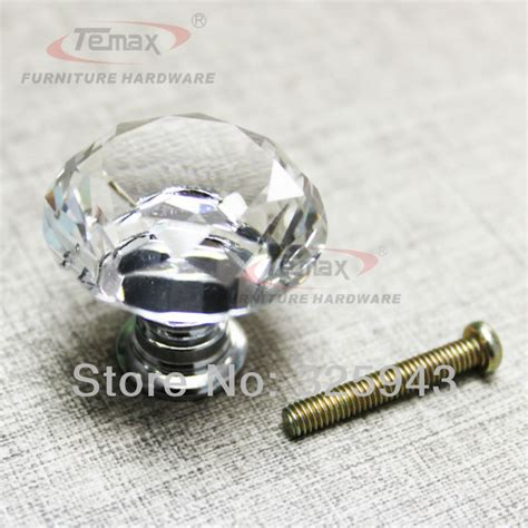 glass kitchen cabinet knobs and pulls 20pcs 30mm clear glass bedroom furniture hardware 8316