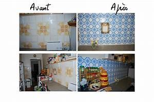 Peindre Faience Cuisine : carrelage cuisine azulejos ~ Melissatoandfro.com Idées de Décoration