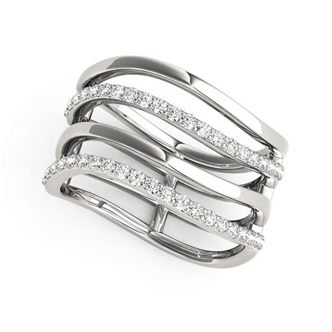 Multiband Diamond Ring In 14k White Gold (38 Cttw. Support Rings. Navaratna Engagement Rings. Meaning Rings. Nesting Wedding Rings. Markey Wedding Rings. Month Rings. Silver Cluster Wedding Rings. Bow Rings