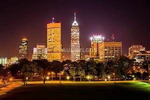 Image: Downtown Indianapolis Skyline at Night Picture ...