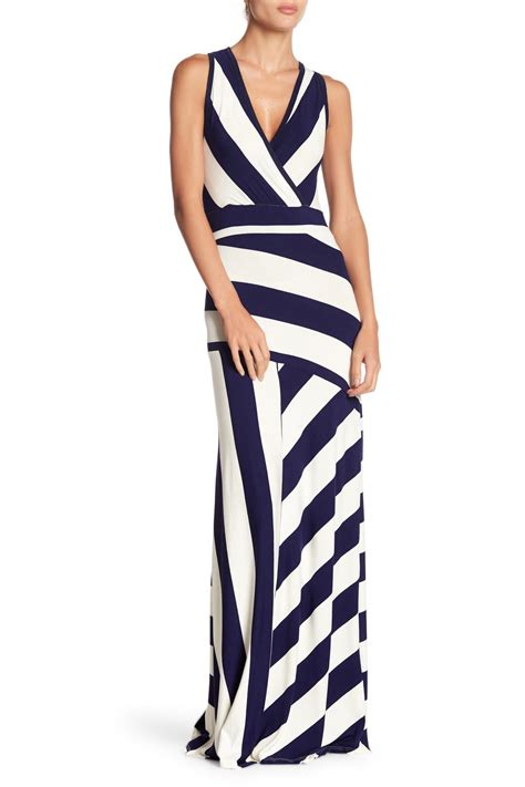 Lyst Go Couture Sleeveless Maxi Stripe Dress In Blue