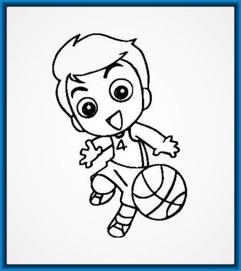 Dibujos para Colorear Jugando para Niños