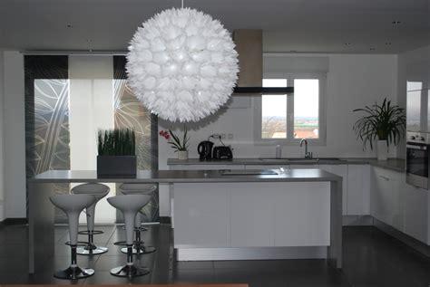 deco cuisine blanc et déco cuisine gris et blanc