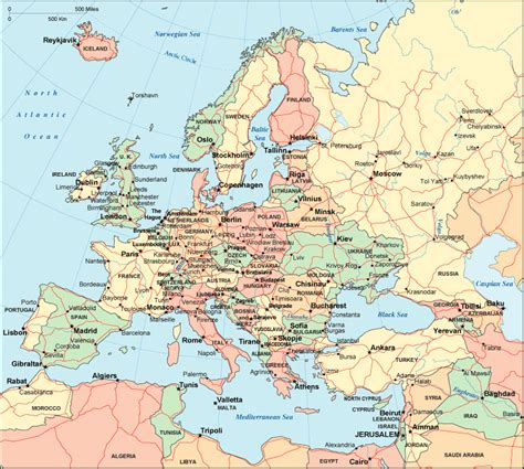 europe map  maps