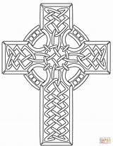 Celtic Coloring Cross Pages Drawing Printable Line Silhouettes Getdrawings Croix Coloriage Celte Dot sketch template