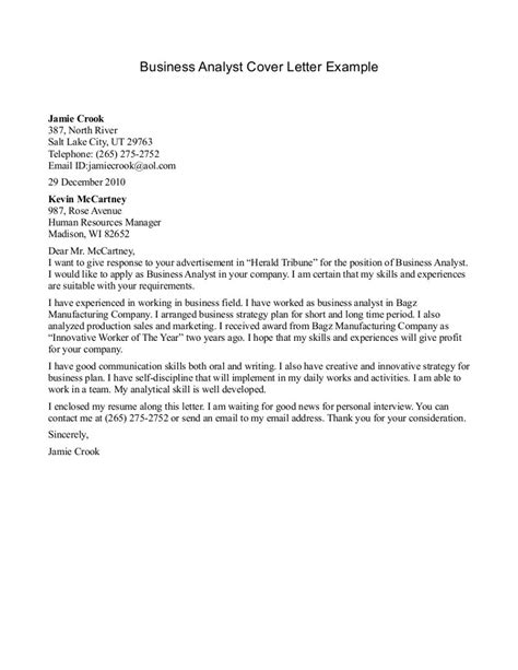 business analyst cover letter business analyst cover letters the letter sle 60082