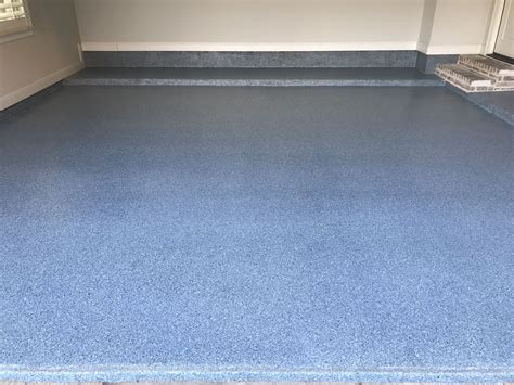 Garage Floor Paint Paint by Classic Finish Epoxy In Custom Color Blue Epoxy