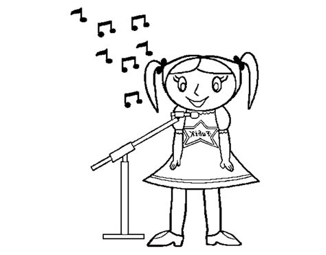 Singer Coloring Pages - Erieairfair