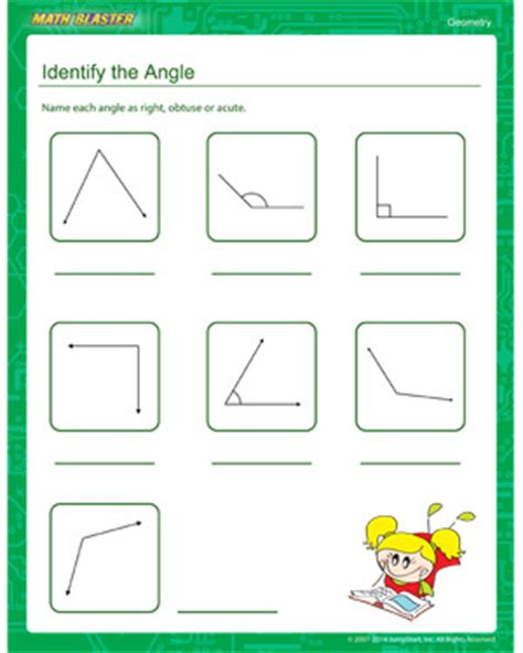 identify the angle free geometry worksheets mathblaster