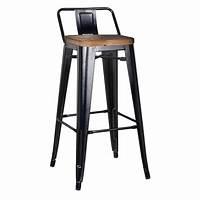bar stools with backs Metro Modern Low Back Black Bar Stool | Eurway Modern