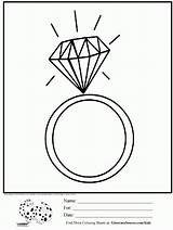 Coloring Ring Diamond Colouring Rings Printable Clean Designlooter Adult Craft sketch template
