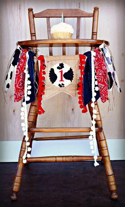 rodeo cowboy birthday age high chair highchair birthday