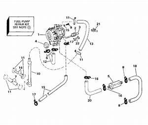 Johnson Fuel Pump  100  115 Models Parts For 1994 90hp