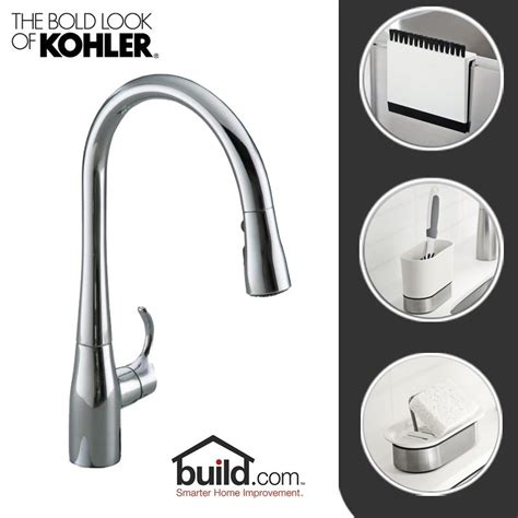 kohler simplice kitchen faucet faucet com kitchen update cp in polished chrome by kohler