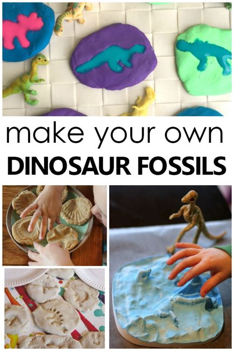 fossil activities for 327 | Creative Ways to Make Your Own Dinosaur Fossils and other Fun Fossil Activities for Kids preschool science dinosaurs