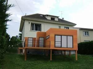 extension bois 20m2 lg96 jornalagora With delightful maison bois toit plat 16 extension de maison en bois