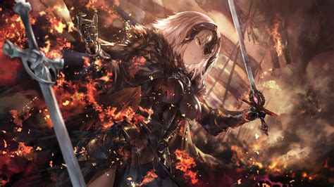 wallpaper fate grand order jeanne  arc alter weapon